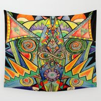 """mask Wall Tapestries featuring """"mask"""" by Rachna Radar"""