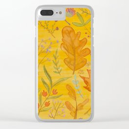 Autumn Blend Clear iPhone Case
