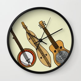 Banjo, Dulcimer, Resonator Wall Clock