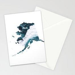 Alaska Sea Map - Beach Print - Nature Print Edit Stationery Cards