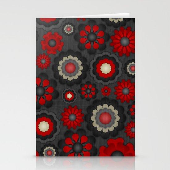 Dark Romance Floral Stationery Cards