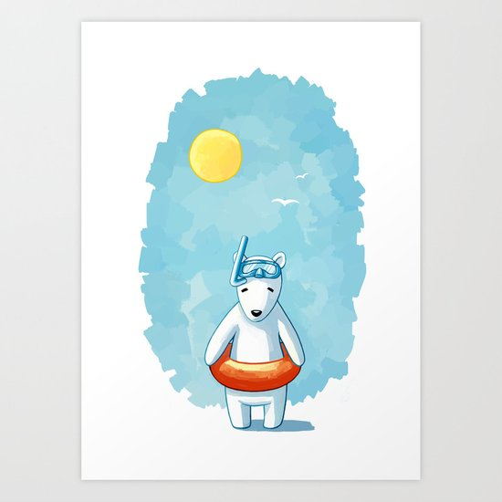 Polar Beach Art Print