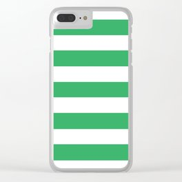 Asda Green (2002) - solid color - white stripes pattern Clear iPhone Case