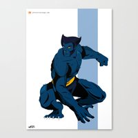 beast Canvas Prints featuring Beast by Andrew Formosa