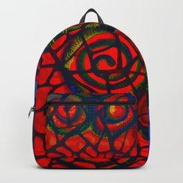 Ram's Horns 2013 By Jackson Shuri (Adinkra Symbol) Backpack