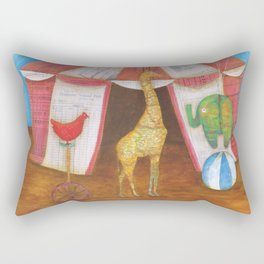 balancing act Rectangular Pillow