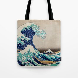Massive Waves Japanese Art Tote Bag