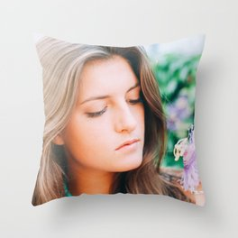 Flower photography by Seth Doyle Throw Pillow