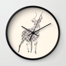 Mountain Nyala Wall Clock