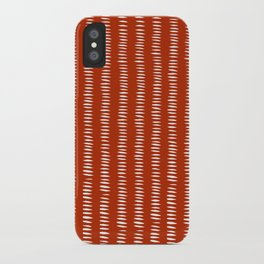 red dashes iPhone Case