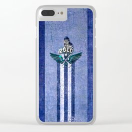 poloplayer blue Clear iPhone Case