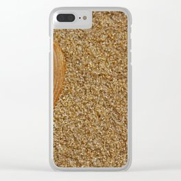sand towel Clear iPhone Case