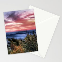 Stained Sunrise Stationery Cards