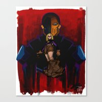 deathstroke Canvas Prints featuring Terra-forming With Deathstroke by Joshua M. Rhodes III