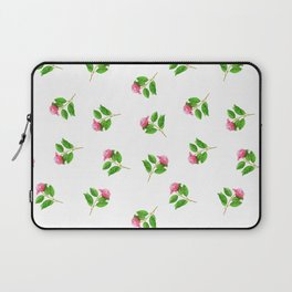 Hand painted pink green watercolor hand painted floral Laptop Sleeve