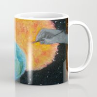 inception Mugs featuring Painting Inception by Liz Mahoney