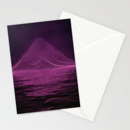 WireFrame Mountain on the Lake Stationery Cards