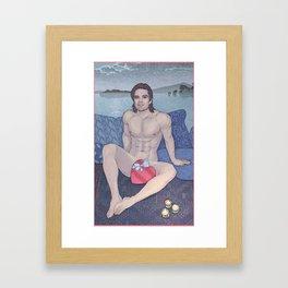 Bucky is my Sweetheart Framed Art Print