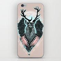 wind iPhone & iPod Skins featuring Wind:::Deer by Süyümbike Güvenç