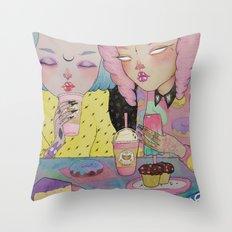 Breakfast Babes Throw Pillow