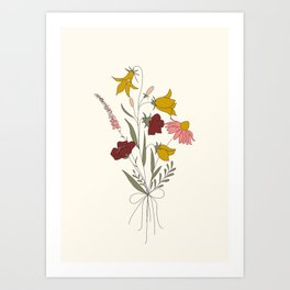 Wildflowers Bouquet Art Print