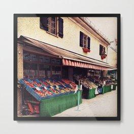 Obststandl - fruits and vegetables Metal Print