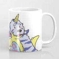 digimon Mugs featuring gabu by tinypuppyprince