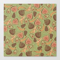 fig Canvas Prints featuring Fig by Meredith Miotke