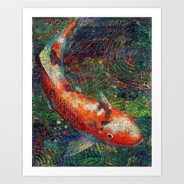 Volunteer Park Koi #8 Art Print