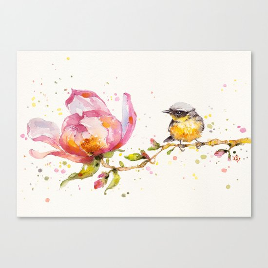 Magnolia & Buddy Canvas Print
