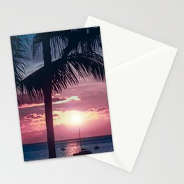 Maui Sunset Palms Stationery Cards