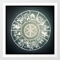 "zodiac Art Prints featuring ""Zodiac"" by DiegoC"