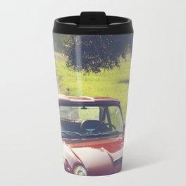 Triumph spitfire, classic english sports car, hasselblad photo Travel Mug