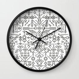 Glyphs - 01 (B&W Edition) Wall Clock