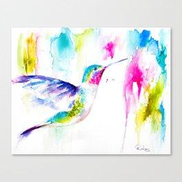 Colorful Hummingbird Canvas Print