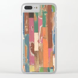 Maui Hawaii colorful fence art Clear iPhone Case