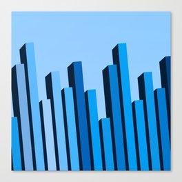 Blue Buildings Canvas Print