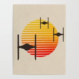 design tie fighters Poster