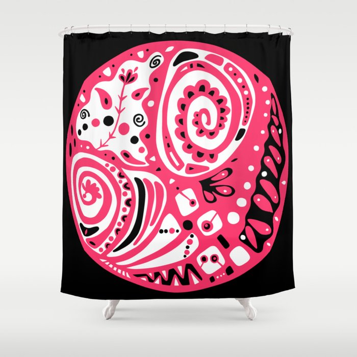 Dot #8 by lalalamonique Shower Curtain