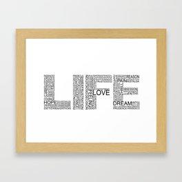 Life in black & white Framed Art Print