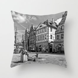 The Green Market Throw Pillow