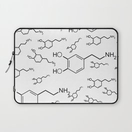 chemical structure for happiness Laptop Sleeve