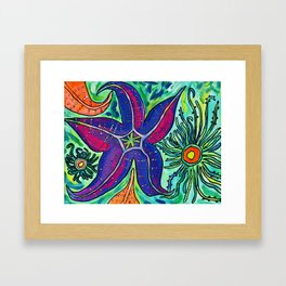Alki Sea Stars and Anemones  Framed Art Print