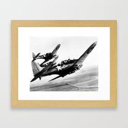 Vintage fighters Framed Art Print