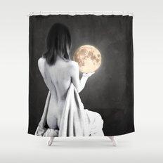 Moon Contemplation Shower Curtain