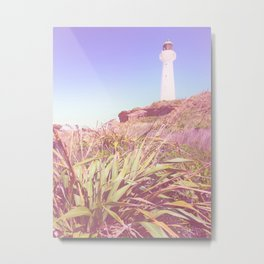 Lighthouse At Castlepoint Metal Print