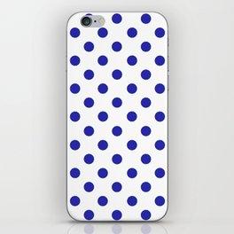 Polka Dots (Navy & White Pattern) iPhone Skin