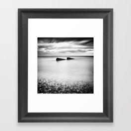 Jagged Sea Framed Art Print