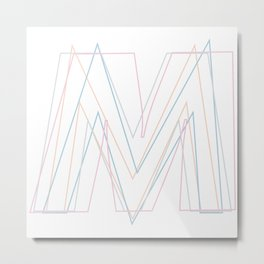 Intertwined Strength and Elegance of the Letter M Metal Print