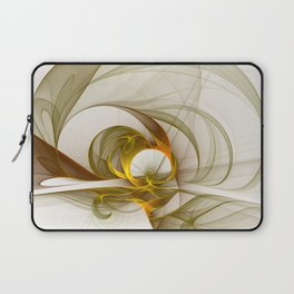 Fractal Art Precious Metals, Abstract Graphic Laptop Sleeve